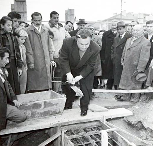 Mithat Fenmen'in de Katıldğı Ankara Devlet Konsevatuvarı Temel Atma Töreni